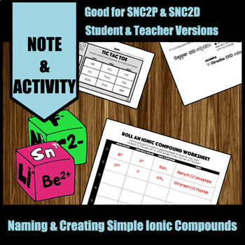 Naming and Forming Simple Ionic Compounds