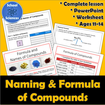 Naming and Formula of Compounds