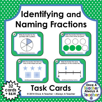 FractionTask Cards - Identifying and Naming