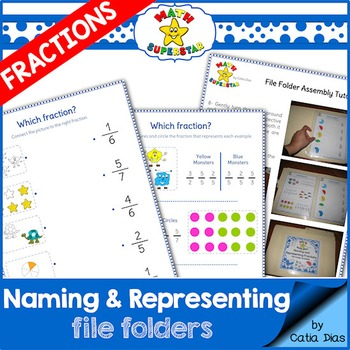 Fraction file folders teaching resources teachers pay teachers naming and representing fractions file folder activities naming and representing fractions file folder activities fandeluxe Gallery