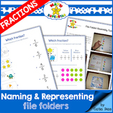 Naming and Representing Fractions File Folder Activities