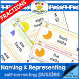 Naming and Representing Fractions Puzzles