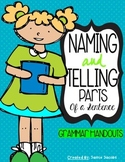 Naming and Telling Parts of a Sentence