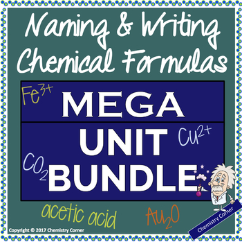 Naming and Writing Chemical Formulas BUNDLE