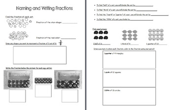 Naming and writing fractions