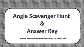 Naming, classifying and angle pairs scavenger hunt