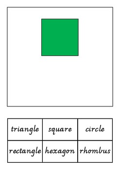 Naming shapes adapted book