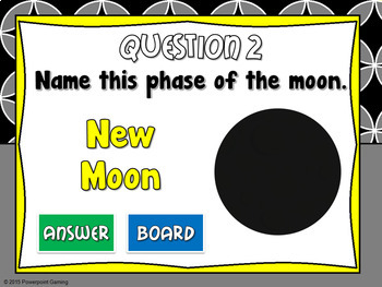 Naming the Phases of the Moon Mini Powerpoint Game