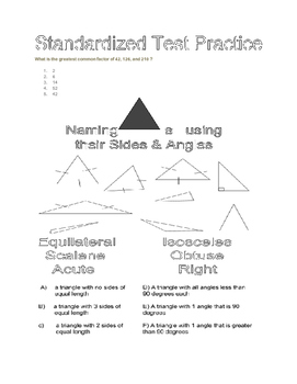 Naming triangles by angles and sides