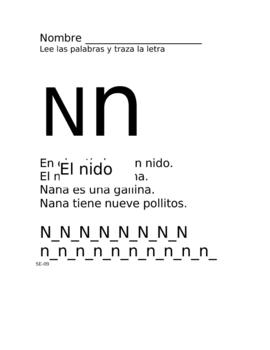 Nana- Lectura fonetica N n