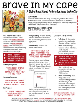 Nana in the City by Lauren Castillo Activity 2 for Global Read Aloud #GRA16