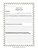 Nancy Boyles Closer Reading - Book Talk Organizer