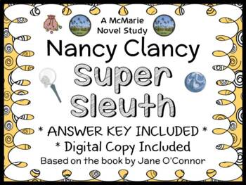 Nancy Clancy Super Sleuth (Jane O'Connor) Novel Study / Reading Comprehension