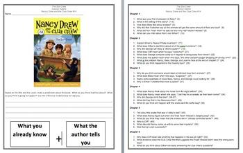 Nancy Drew The Zoo Crew Comprehension Novel Study!