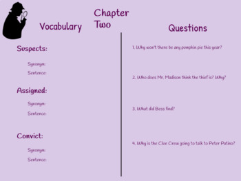 Nancy Drew and the Clue Crew- Thanksgiving Thief Comprehension Chapter Questions
