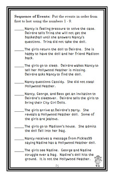Nancy Drew and the Clue Crew BUNDLE (Keene) 3 Novel Studies: Books #1-3  (81 pg)