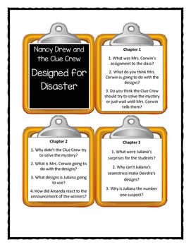 Nancy Drew and the Clue Crew DESIGNED FOR DISASTER - Discussion Cards
