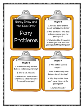 Nancy Drew and the Clue Crew PONY PROBLEMS - Discussion Cards