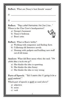 Nancy Drew and the Clue Crew: Pony Problems (Carolyn Keene) Novel Study (26 pgs)