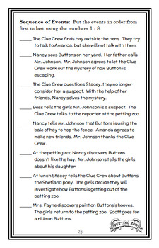 Nancy Drew and the Clue Crew: Pony Problems (Carolyn Keene) Novel Study (26 pgs)