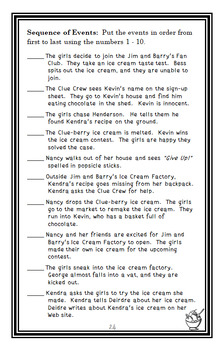 Nancy Drew and the Clue Crew: Scream for Ice Cream (Keene) Novel Study (27 pgs)