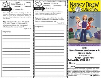 """Trifold for """"Nancy Drew and the Clue Crew: Sleepover Sleuths"""" by Carolyn Keene"""