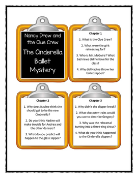 Nancy Drew and the Clue Crew THE CINDERELLA BALLET MYSTERY - Discussion Cards