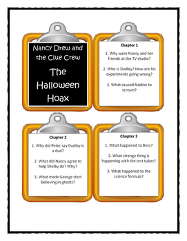 Nancy Drew and the Clue Crew THE HALLOWEEN HOAX - Discussion Cards