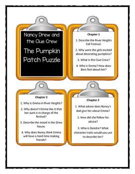 Nancy Drew and the Clue Crew THE PUMPKIN PATCH PUZZLE - Discussion Cards