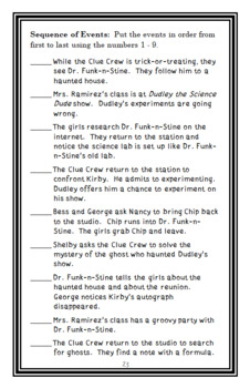Nancy Drew and the Clue Crew: The Halloween Hoax (Carolyn Keene) Novel Study