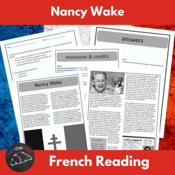 Nancy Wake -  reading & questions for intermediate/advanced French