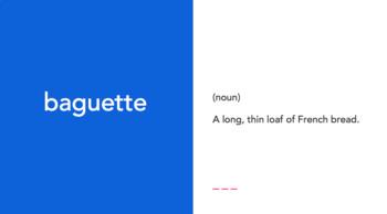 Nanette's Baguette vocabulary