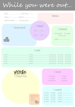 Nanny Daily Report for Parents