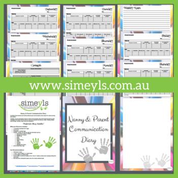 Nanny & Parent Communication Diary
