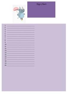 Nap Cot Sheet Chart