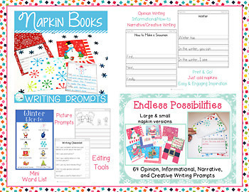 Napkin Book Writing Prompts Growing Bundle