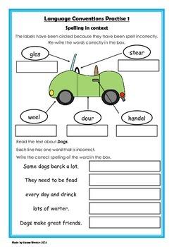 Naplan 5 week Language Conventions practice pack - Grade 3