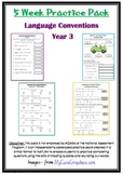 Naplan 5 week Language Conventions practice pack - Grade 3