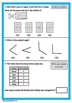 Naplan 5 week Numeracy practice pack - Grade 3
