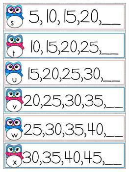 Naplan Review Number Patterns By 2,3,4 and 5 Dry Erase Strips
