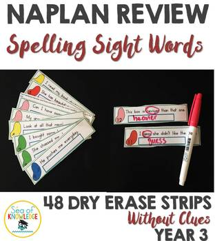 Naplan Review Spelling Words Dry Erase Strips Year 3