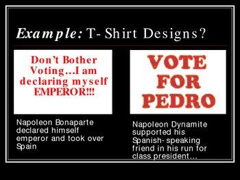 Napolean Bonaparte vs. Napolean Dynamite PowerPoint Activity