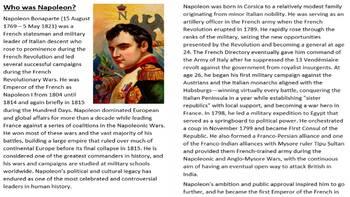 Napoleon Bonaparte Activity Pack