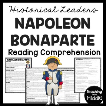 Napoleon Bonaparte, French Revolution, Reading Comprehension Worksheet
