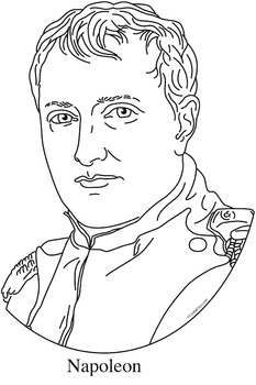 Napoleon Clip Art, Coloring Page, or Mini-Poster