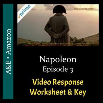 Napoleon - Episode 3 - Video Response Worksheet and Key (Editable)