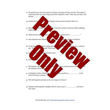 Napoleon - Episode 4 - Video Response Worksheet and Key (Editable)