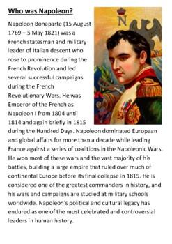 Napoleon Handout