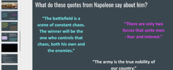Napoleon Intro PPT and Guided Notes: Editable Versions
