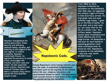 Napoleon: Lesson Bundle with 3 Guided Readings, Graphic Organizer + EXTRAS